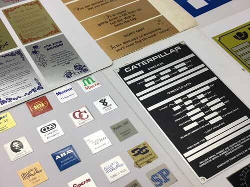 Aluminium Nameplates